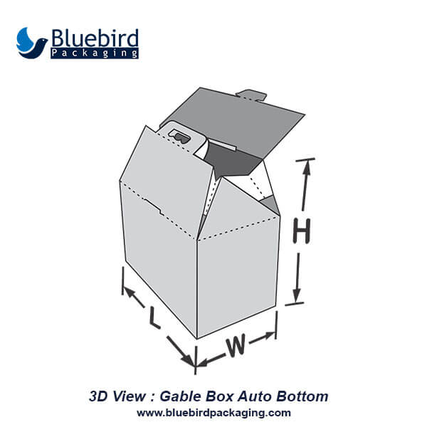 Gable Box Auto Bottom | Gable Box Auto Bottom Packaging Wholesale