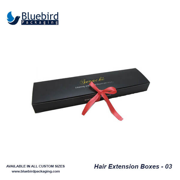 Custom Hair Packaging Boxes Hair Extension Boxes Bluebird Packaging